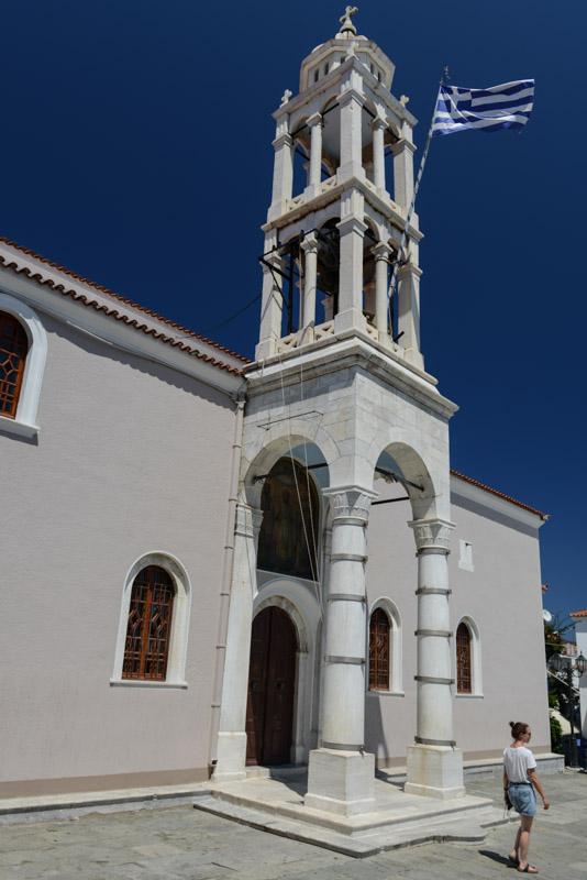 Skiathos-Stadt, Chora, Kirche, Reisebericht, Griechenland, Foto: Heiko Meyer, www.wo-der-pfeffer-waechst.de