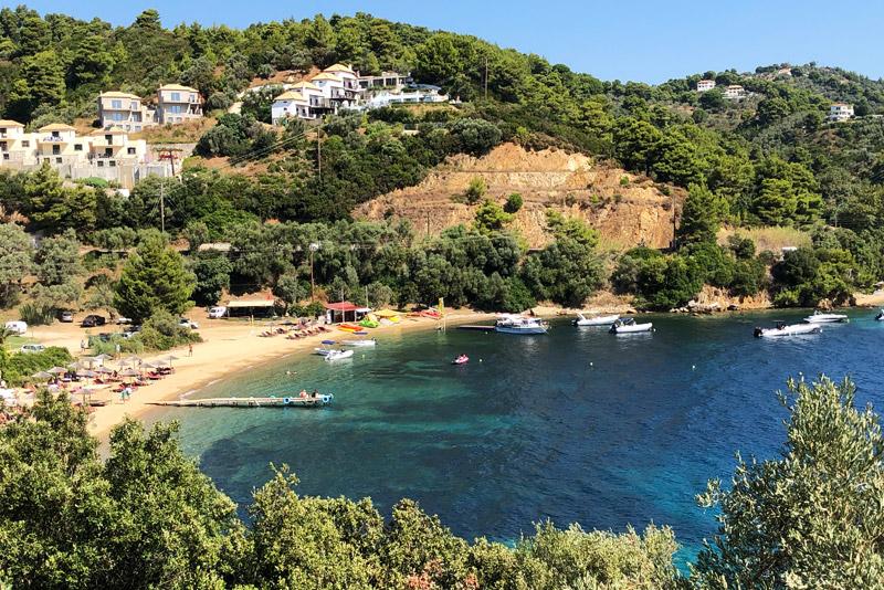 Tzaneria Beach, Skiathos, Strand, Strände, Reisebericht, Griechenland, Foto: Heiko Meyer, www.wo-der-pfeffer-waechst.de