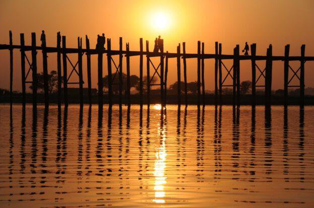 Myanmar, Burma, Birma, Mandalay, Amarapura, U-Bein-Teakholzbrücke, bridge, Mingun, Reiseberichte, www.wo-der-pfeffer-waechst.de