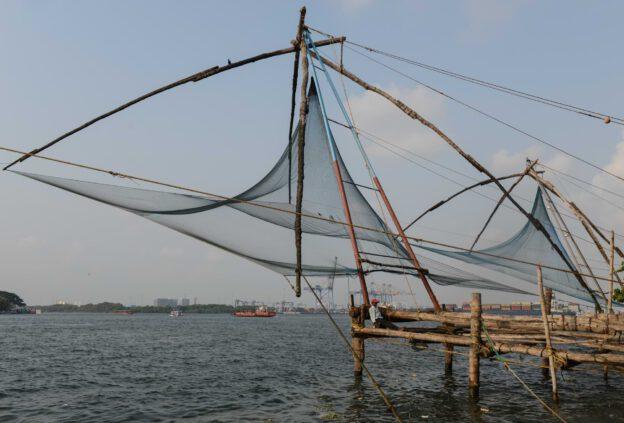 Fort Kochi, Cochin, chinesische Fischernetze, Südindien, Kerala, Reisetipps, Reisen mit Kindern, Rundreisen, Südasien, Reiseberichte, Reiseblogger, www.wo-der-pfeffer-waechst.de