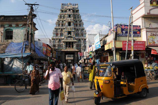 Tamil Nadu, Tempeltour, Südindien, Tiruchirappalli, Trichy, Srirangam, Sri-Ranganathaswamy-Tempel, Gopuram, Reisetipps, Rundreisen, Asien, Reiseberichte, Reiseblogger, www.wo-der-pfeffer-waechst.de