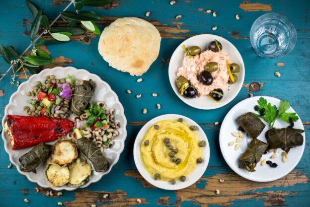 Vegetarische griechische Vorspeisen, Mezzedes, Griechenland, vegetarisches, griechisches, Kochen, Rezepte, Gerichte, Speisen, Essen, Zutaten, Küche, www.wo-der-pfeffer-waechst.de