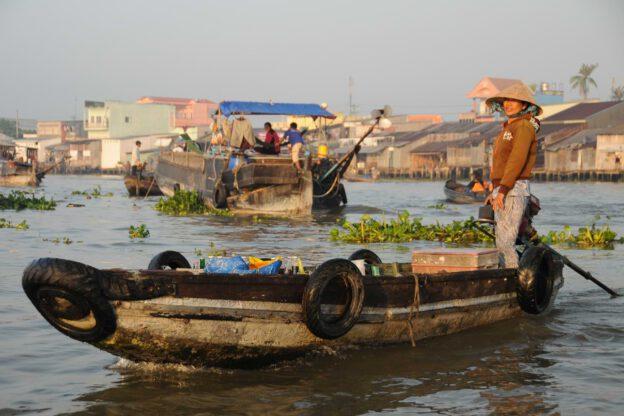 Mekong-Delta, Vietnam, Cai Rang, schwimmende Märkte, Can Tho, Reisebericht, floating market, www.wo-der-pfeffer-waechst.de